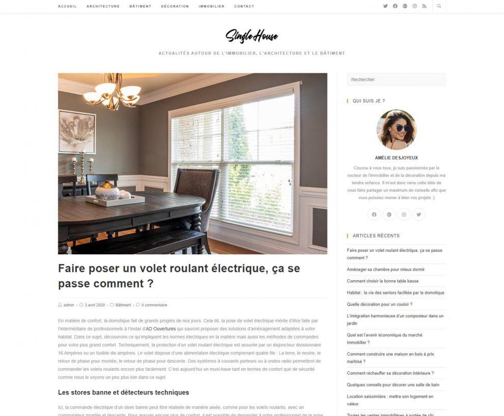 SingleHouse – blog décoration et construction