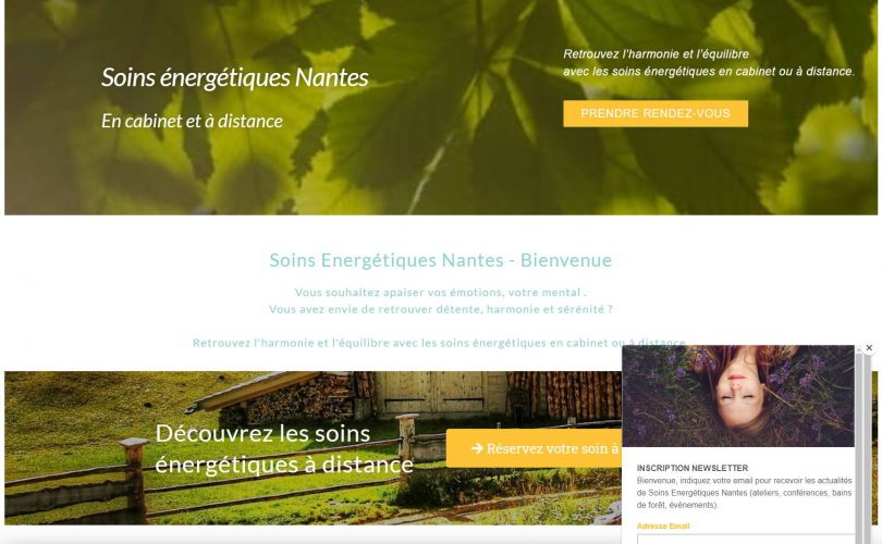 Soins Énergétiques Nantes – Site vitrine pour énergéticienne